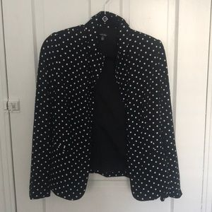 Black and white polka dot blazer Size 6
